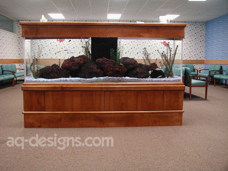 300 gallon aquarium 4 sided view at a pediatric clinic in North Little Rock.