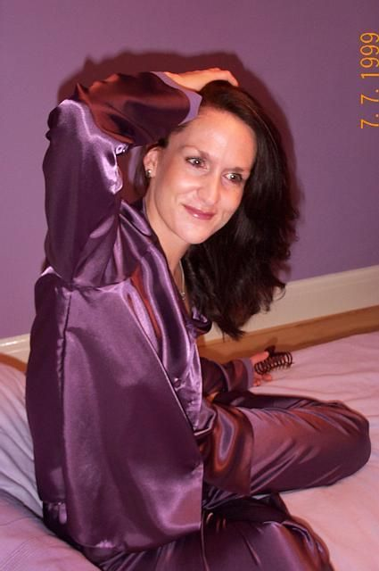 Pin By Slick Junkmen On Satin  Satin Pajamas, Silk -9119