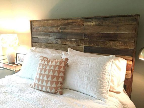 These headboards are made from reclaimed pallet boards. Choose from full, queen, or king size headboard. We offer a variety of finishes. Message us for a custom order