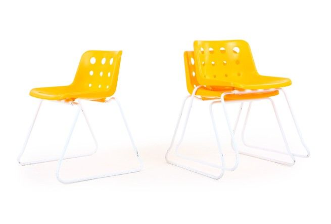Robin Day Polo Chairs - Mr. Bigglesworthy Designer Vintage Furniture Gallery