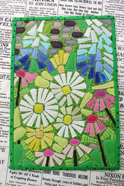A bitty little block.  Ticker Tape Flowers by mamacjt, via Flickr