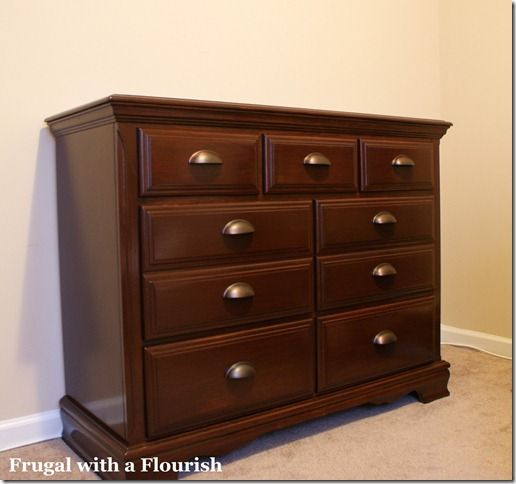 How To Strip And Restain A Dresser (this Used To Be A