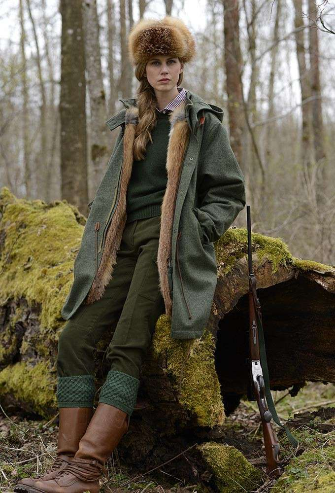 Damen Jagdhose Moleskin Oliv The Hunt Womens Hunting