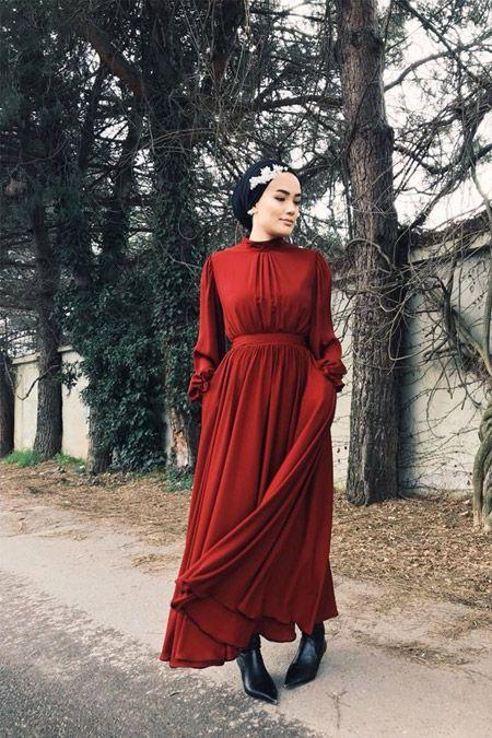 Zkzafira Red Weasel Dress alisveris.yesilto …