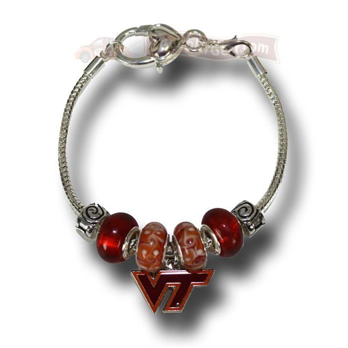 Virginia Tech Hokies Pandora Bracelet