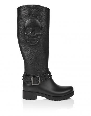 Женская обувь Philipp Plein: туфли-лодочки, сапоги и ботинки, обувь на плоской подошве   Philipp Plein
