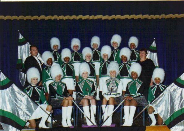 Westridge Drum Majorettes Team 2000.