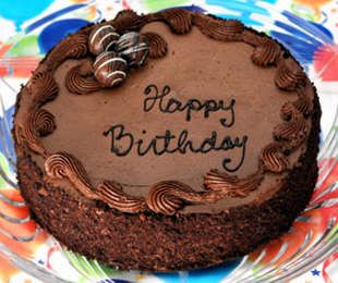 Send a friend a Chocolate Truffle Birthday Cake