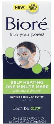 Bioré Self-Heating One-Minute Mask | The best products to shrink your pores http://aol.it/1mNtnm6