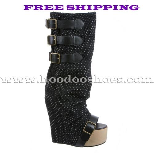 Irregular Choice Boots Mo Money Mo Heel in Black Shoes