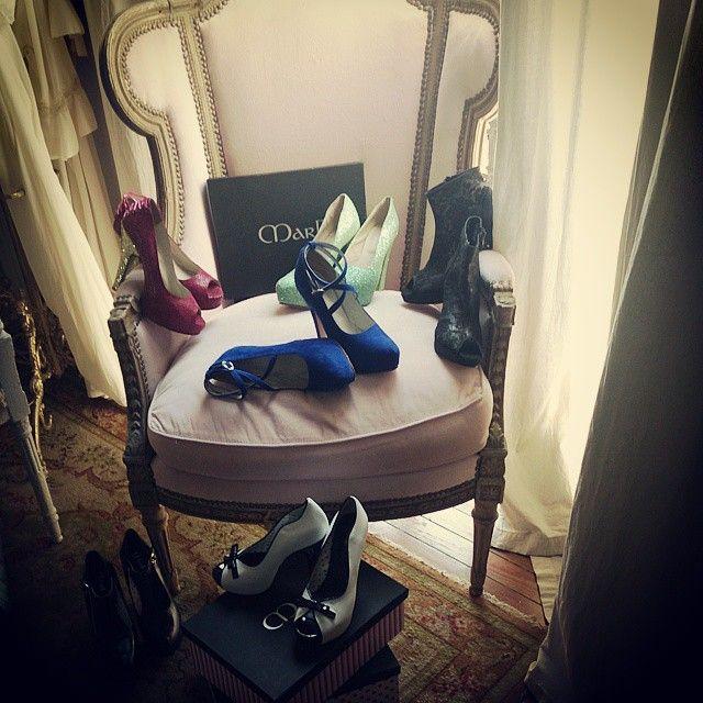 Preparandonos para la produccion de fotos de Stella Maris Faggiano .:: MarF ::. zapatos