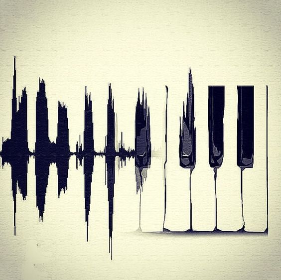 This is such a simple, yet beautiful piano key art piece. It would be stunning hung in a small rimmed frame | via ESTADO D'ALMA on Tumblr #music #art: