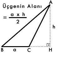 Alan hesaplama formunu kullanarak kolayca taban uzunluğu ve yükseklik değerlerine ulaşa bilirsiniz. Hesaplamak istediğiniz şekli seçtikten sonra, taban uzunluğu ve bu tabana ait yüksekliği giriniz.