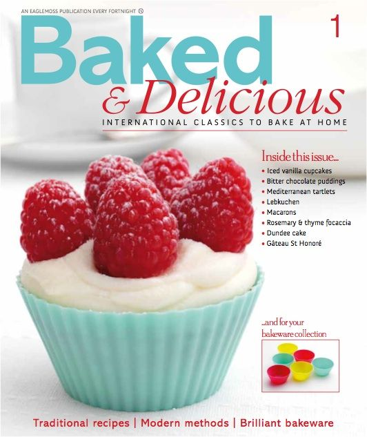 Free Issue of Baked & Delicious plus FREE 6 Silicone Bakeware Cups, Spatula and Brush Set