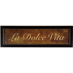 "La Dolce Vita Italian Kitchen Decor Framed Print - means ""The Sweet Life"". For the coffee atea"