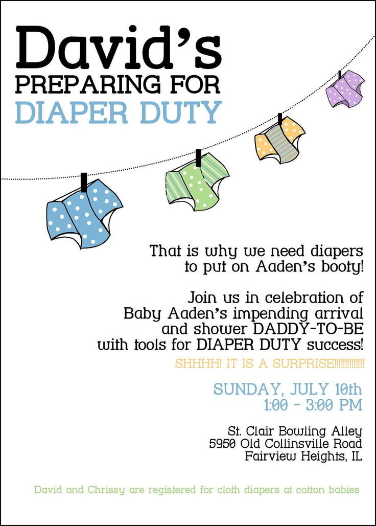 Custom Modern Personalized Gender Neutral Dad Daddy Baby Diaper Shower