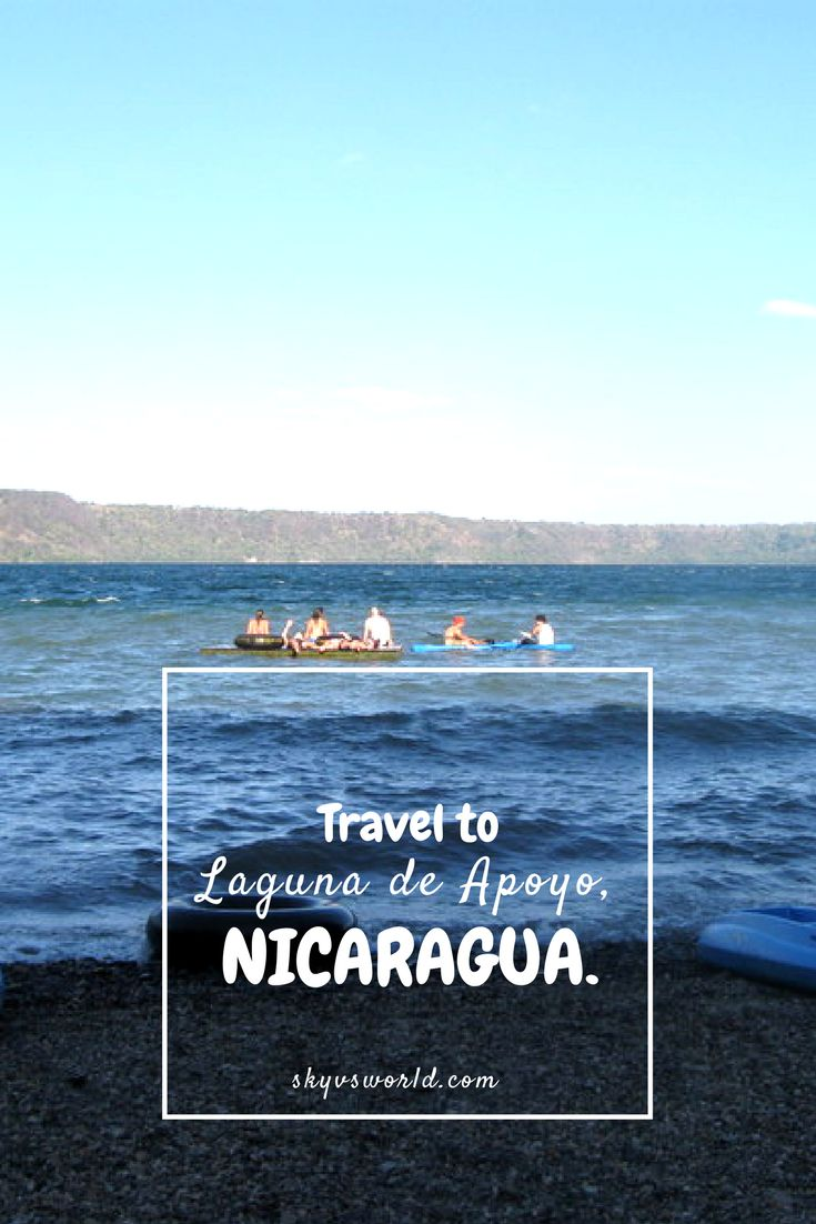 Laguna de Apoyo is a crater lake just outside of Granada, Nicaragua and it is an absolute MUST visit when traveling in Nicaragua!