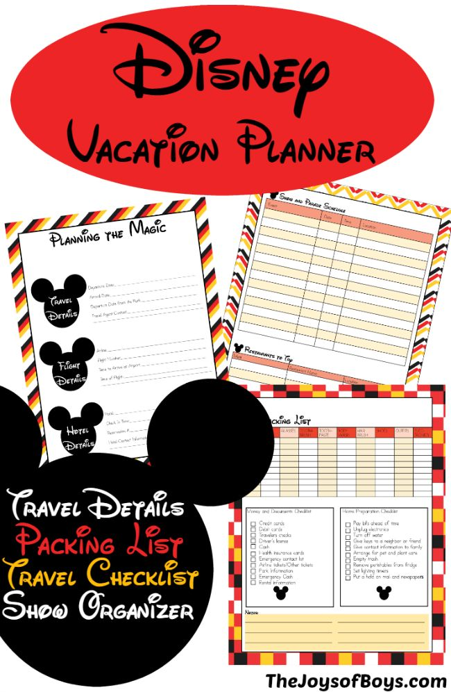 Planning a Disney vacation can be stressful.  This Disney Vacation Planner can h… – The Joys of Boys