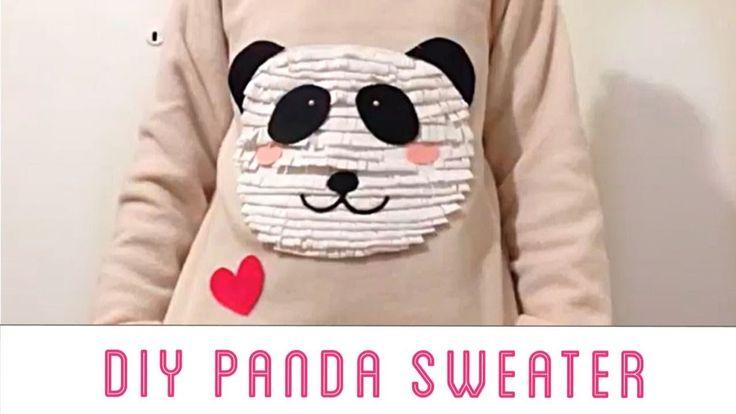 ♥ DIY Panda Sweater in 90 seconds | WeHeartIt Inspired ♥