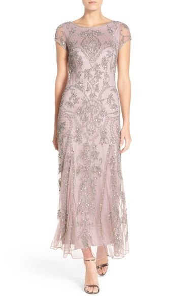 Pisarro Nights Embellished Mesh Gown available at #Nordstrom