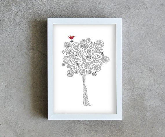 Illustration print poster. Ideal for decorating a happy home. A beautiful, modern and affordable way to decorate your place, or make a