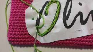 Crochets4U: naam naaien op pennenzak