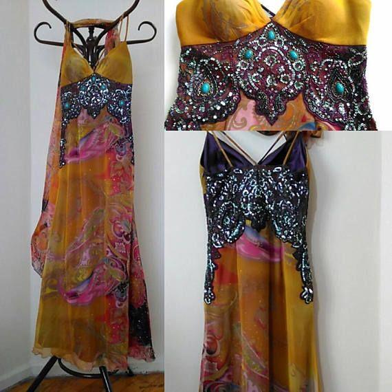 Long Prom Dress Vintage Spaghetti Straps Prom Dress