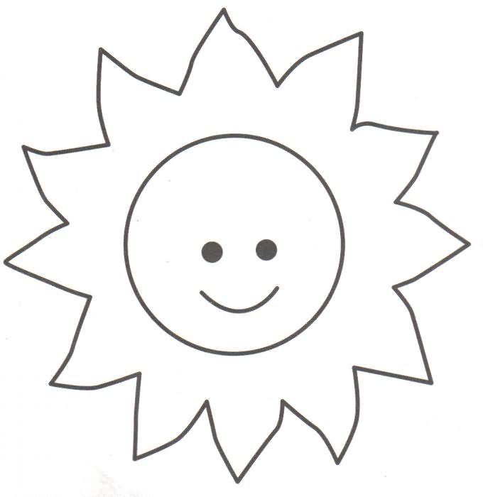 El Sol Dando Calor Preescolar Sun Crafts Space Coloring Pages Y