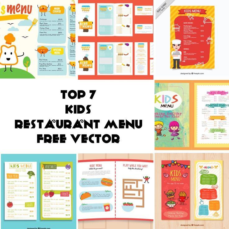 Below is my list of top 7 Free Vector of Kids Restaurant Menu.