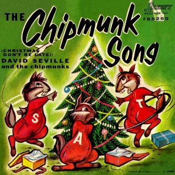 "1958: The Chipmunks hit No. 1 with the novelty song ""The Chipmunk Song (Christmas Don't Be Late)."" It would stay at No. 1 for four weeks. The song, written and performed by Ross Bagdasarian Sr., would also go on to win three Grammy Awards."