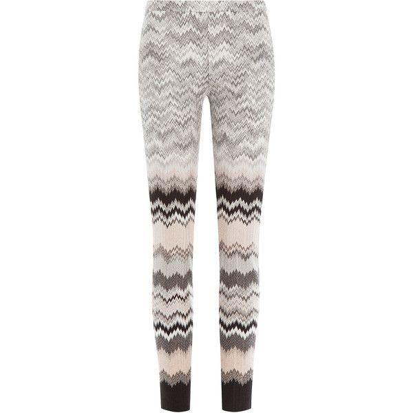 Missoni Knit Leggings ($615) ❤ liked on Polyvore featuring pants, leggings, pantaloni, multicolor, white pants, ski pants, slim ski pants, thick white leggings and multi color leggings