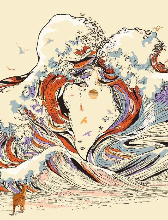 Psychedelic Drawings of Imaginary Lovers Formed By the Sea – Fubiz Media #design #inspiration www.agencyattorneys.com