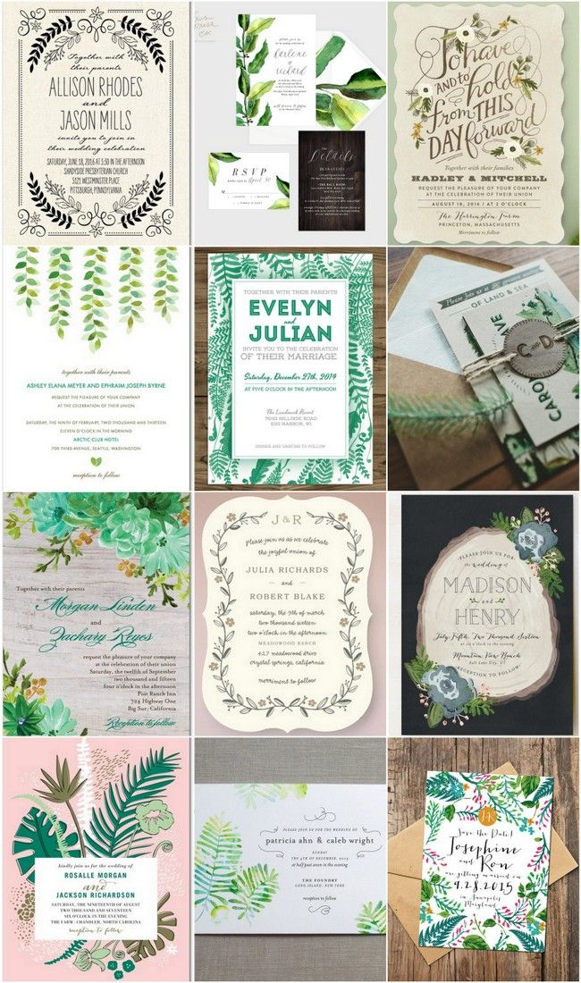 22 amazing botanical wedding invites that are bursting with with natural beauty. These botanical beauties are gorgeous, green and oh-so-perfect for an outdoor or woodsy wedding, or even a tropical celebration amidst the leafy palms. From magical mountains to boho chic, artsy designs, we've selected our fave designs to inspire you for your botanical-themed big day. http://www.confettidaydreams.com/botanical-wedding-invitations/