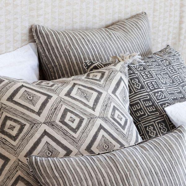 Walter G hand block printed cushions from Salt Living  #walterg #cushions #ocastaldecor #saltliving