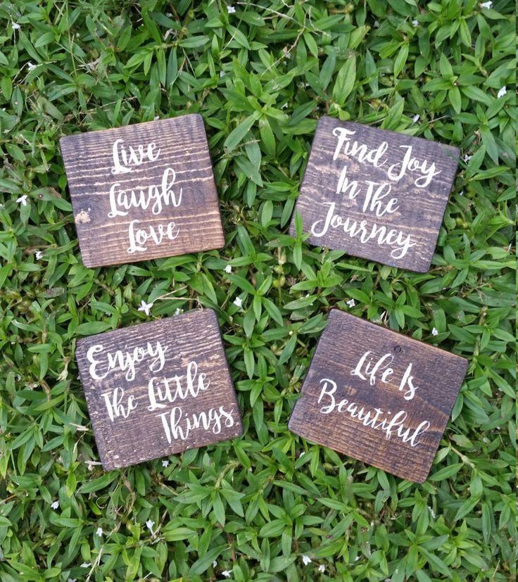 Wooden Coasters//Set of 4//Rustic Wooden by ReBornFurnishings
