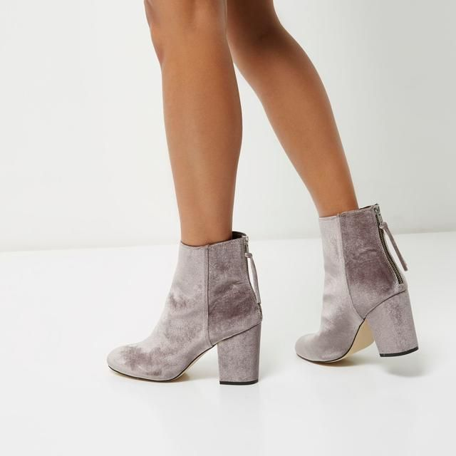 Velvet Ankle Boots by River Island