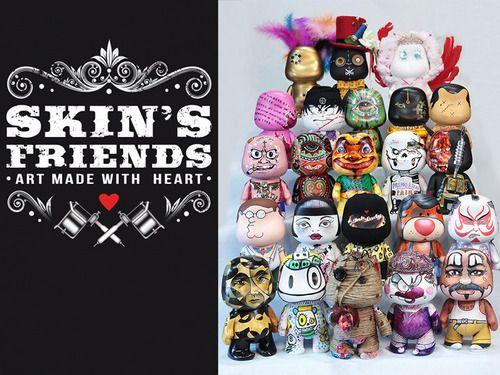 SKIN'S FRIENDS – ART MADE WITH HEART  25 TATUATORI per l'Associazione Progeria Sammy Basso Onlus  L'arte del tattoo, che negli anni ha attraversato culture, religioni e paesi di tutto il mondo, oggi si racconta in un libro: Skin's Friends.