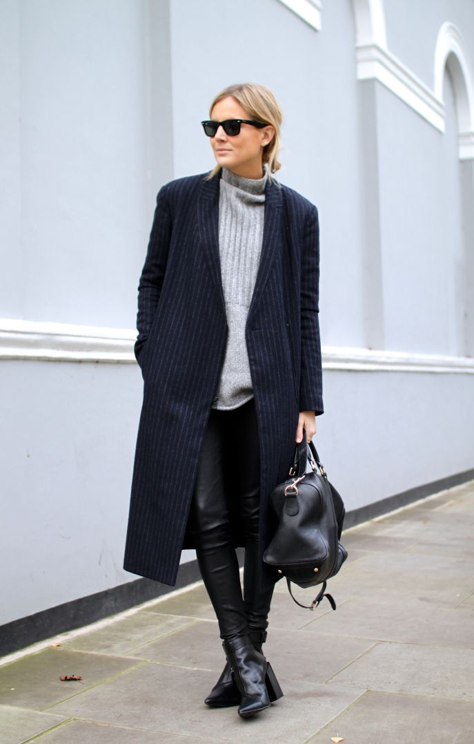 Coat | Tibi (now on sale – 40% off!) Bag | Gucci Jumper | ASOS Leather leggings | Alice & Olivia Boos | Senso