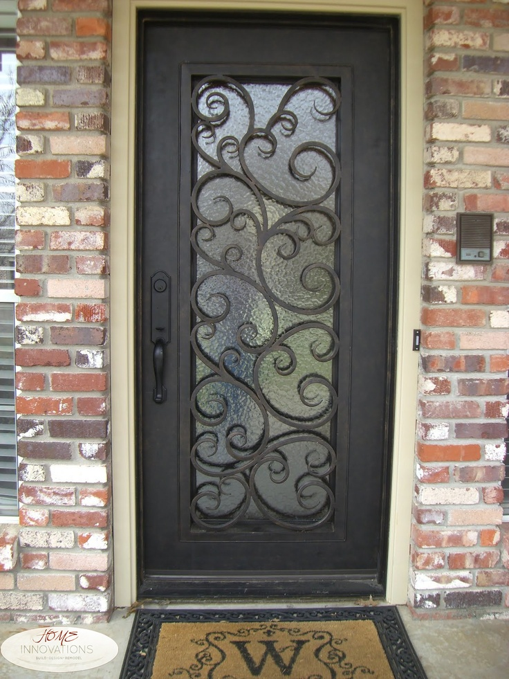 Rod Iron Front Door.  See the befores on our FB page