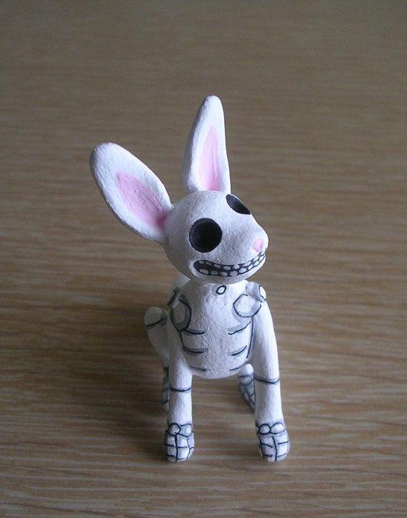 Day of the Dead Rabbit, Rabbit Sculpture, Bunny figurine, Day of Dead Bunny, Day of the Dead Art, Skellie Rabbit, Skeleton Bunny