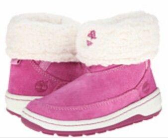 Pink little girls timberlands