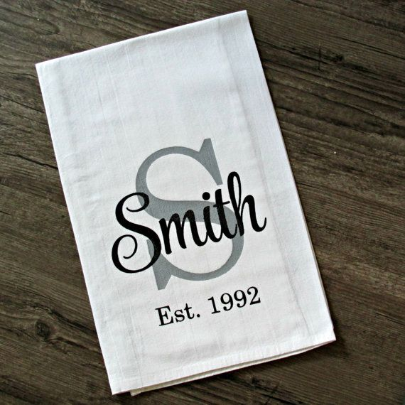 Custom Flour Sack Kitchen Towels / Farmhouse Chic / Cottage Chic / Tea Towel / Establish