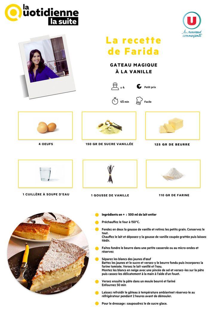 Retrouvez la recette de Farida : Gâteau magique à la vanille