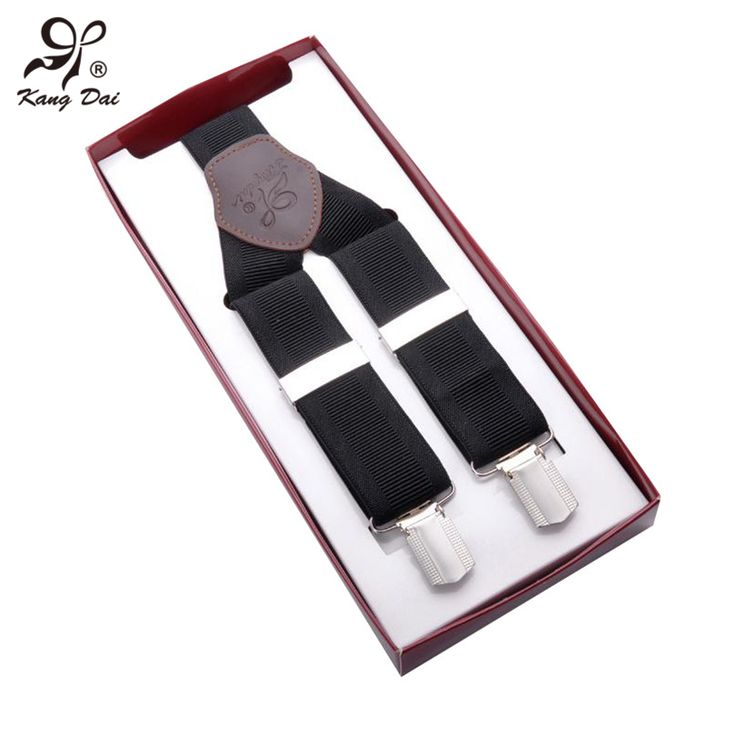 2016 Men's Suspenders for Men Shirts Solid Fashion Braces for Trousers Genuine Leather Suspenders Adjustable 3 Clips Belt Straps