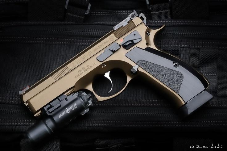 """CZ 75 SP-01 """"Shadow"""" 9mm pistol. Find our speedloader now! http://www.amazon.com/shops/raeind"""