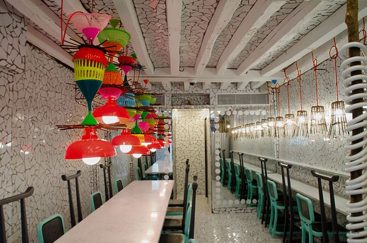 paola navone wraps ibaji restaurant in fragmented tiles