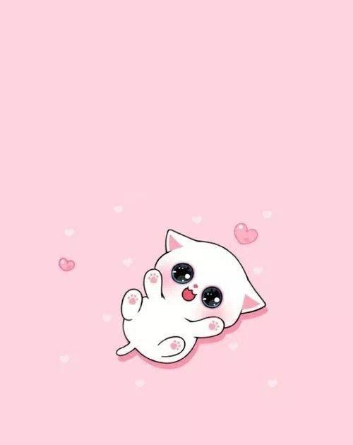 Wallpaper Hp Lucu Pink Kucing Dengan Wallpaper Tersebut Kamu Akan Merasa Lebih Asyik Memainkan Ponse Cute Cartoon Wallpapers Kitten Cartoon Cute Cat Drawing