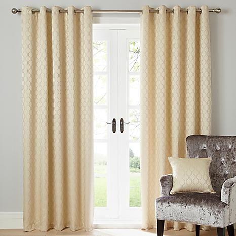Islington Lined Eyelet Curtains #Kaleidoscope #home #curtains #cream #interior