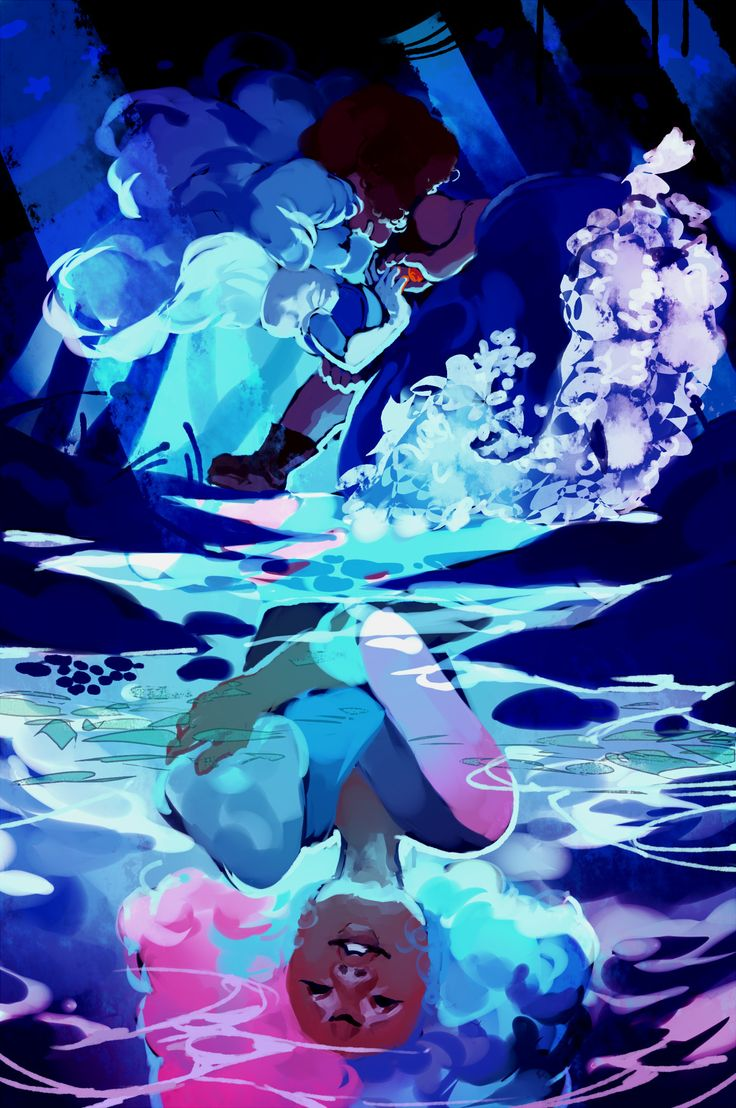 Ruby + Sapphire + Cotton Candy Garnet by velocesmells