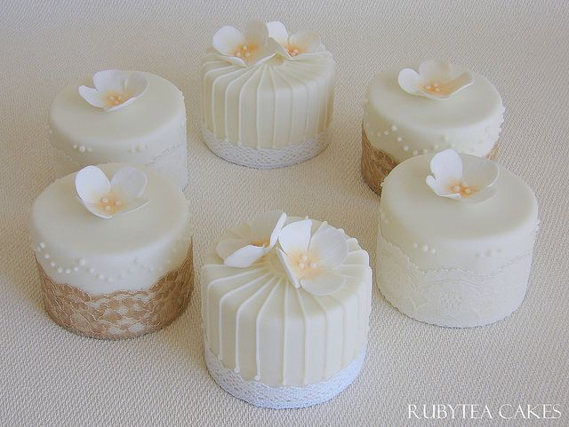 Mini Cakes for Victoria and Darragh's Wedding by RubyteaCakes, via Flickr